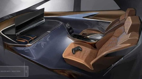 Being an autonomous car, there is no need of steering wheels and pedals. (GeneralMotorsDesign)