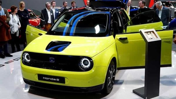 While the Honda e (in pic) sits as a small and affordable EV offering, the car maker has bigger dreams with bigger EVs for the US market. (REUTERS)