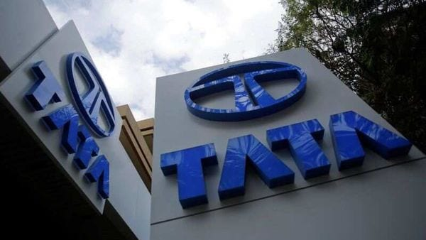Tata Motors logos are seen at their flagship showroom in Mumbai (REUTERS)