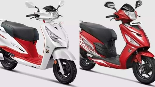 Both the 100 Million Edition of Hero scooters now get a special red and white paint scheme.