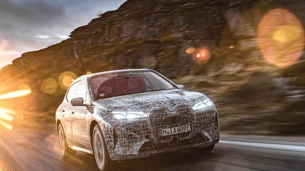 BMW iX as seen during tests on the edge of Arctic Circle.