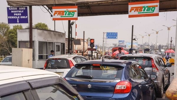 Union Minister Nitin Gadkari has said that toll booths on highways to go within a year and will be replaced by GPS-based tolls. (File photo) (PTI)