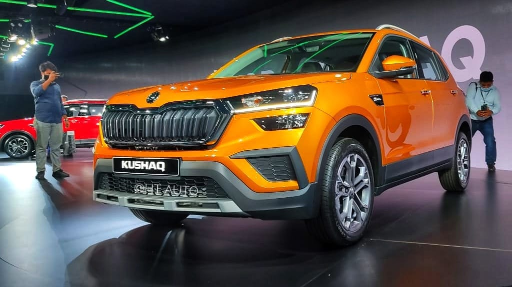The Skoda Kushaq SUV is based on the MQB-A0-IN platform. The company's facility in Chakan has been upgraded for this purpose to use the new platform and manufacture vehicles. (Photo: Prashant Singh/ HT Auto)