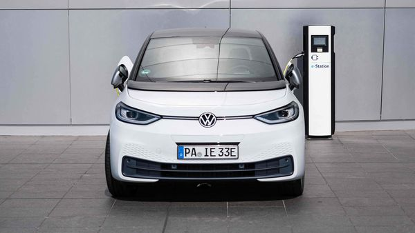 A Volkswagen ID.3 electric car being charged. (File photo)