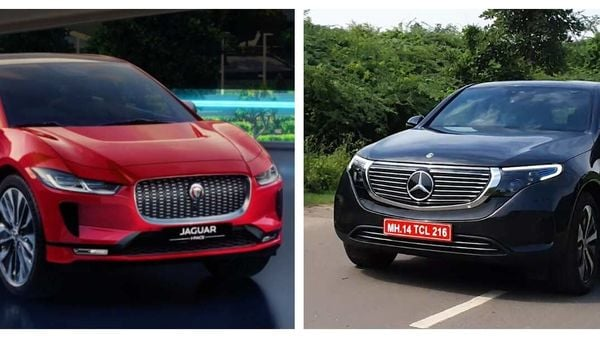 Mercedes EQC (R) now has a direct rival in the Indian market in the form of Jaguar I-Pace.