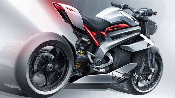 Triumph has only revealed the electric motor and the frame of the electric bike as of now.