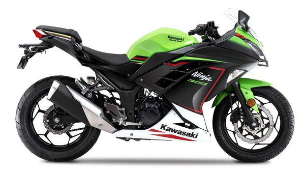 The Kawasaki Ninja 300 gets a new paint scheme with the latest update,