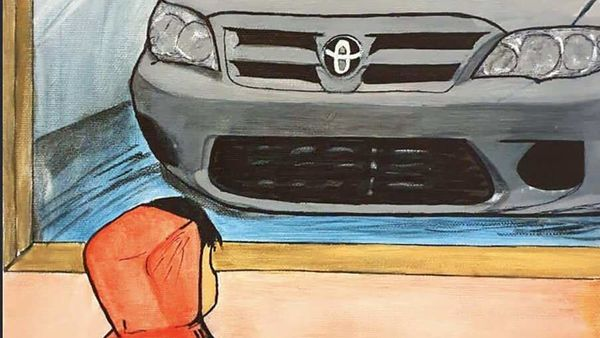 Art work by Basel Taha Abdeen from Jordan for the 14th National Toyota Dream Car Art Contest