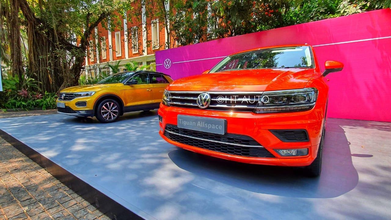 Volkswagen SUVs showcased during an event in Goa. (HT Auto/Sabyasachi Dasgupta)