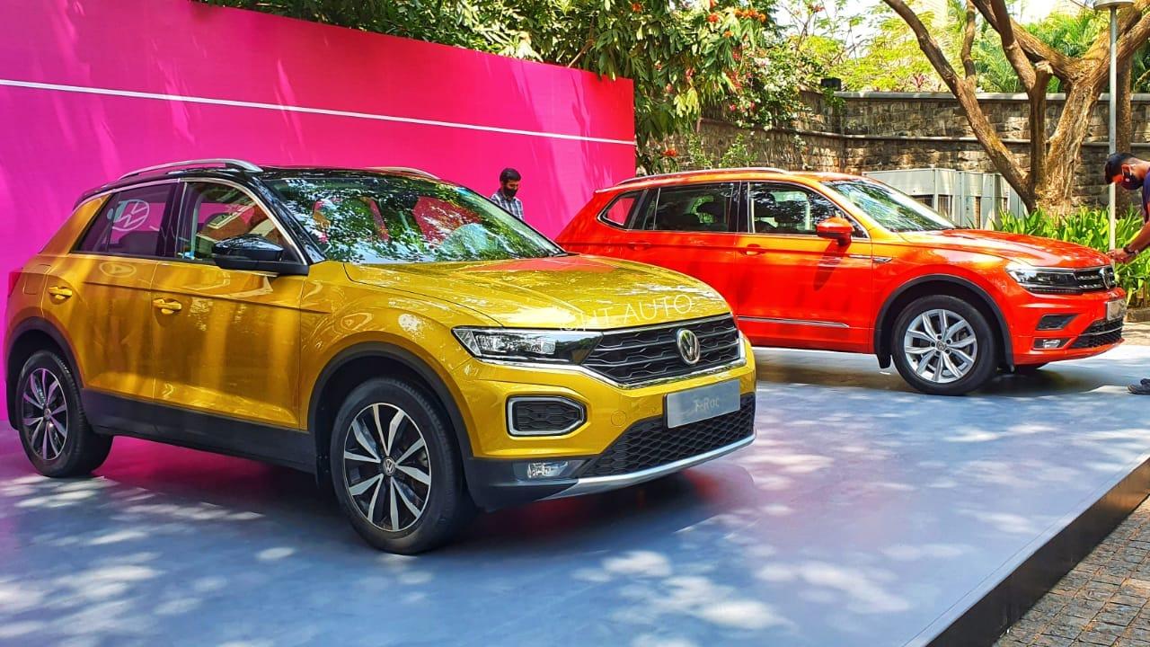 Volkswagen T-Roc and Tiguan Allspace. (HT Auto/Sabyasachi Dasgupta)