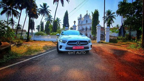 Mercedes A-Class Limousine is aimed at young achievers and first-time luxury car buyers. (HT Auto/Sabyasachi Dasgupta)