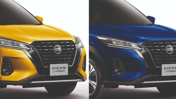 Photos of Nissan Kicks e-Power in Sunlight Yellow (L) and Night Blue