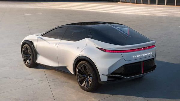 Its rear features a continuous light bar that is broken only by the company's reinvented brand. And there is a panoramic glass roof extending across the top of the vehicle.