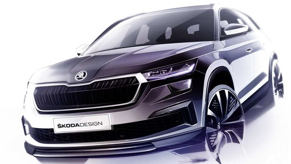 Skoda has revealed three sketches of the facelift version of Kodiaq SUV.