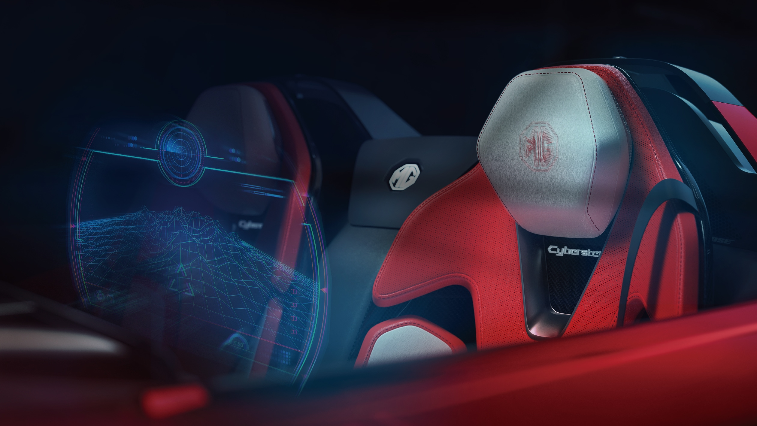 The MG Cyberster gets zero gravity seats inside the cabin with a multi-surface splicing design, providing strong back support for the driver from all angles,