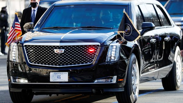 The Joe Biden administration has earmarked a $174 billion investment that includes updating the federal vehicle fleet to electric ones. (REUTERS)