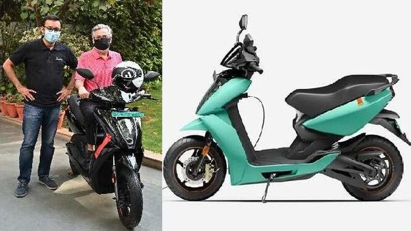 Tarun Mehta, Co-founder and CEO of Ather Energy, on Wednesday presented the first unit of their new electric scooter 450X to Dr. Pawan Munjal, the Chairman and CEO, Hero MotoCorp.