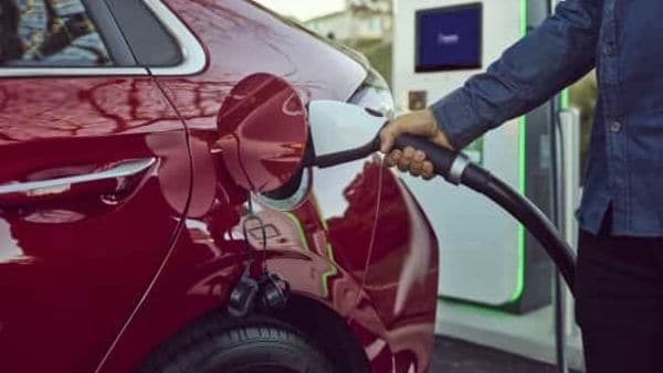 File photo: A Hyundai electric vehicle being charged