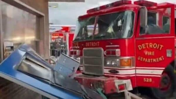 It has been reported that the fire truck was speeding towards the intersection at Dequindre and State Fair with its emergency lights flashing and, probably its sirens blaring. (Source: Youtube)