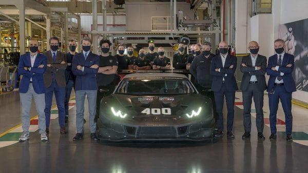 400th Lamborghini Huracan racing car