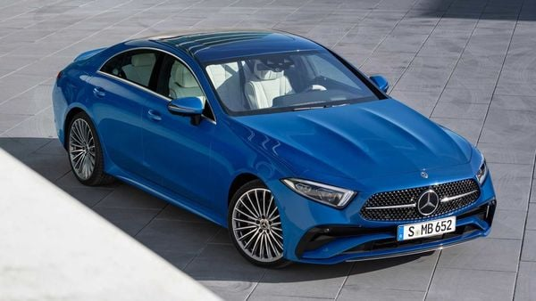 The 2022 Mercedes-Benz CLS receives AMG Line styling package for exterior as standard.