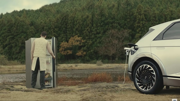 Hyundai has released a commercial claiming that its electric car Ioniq 5 can do much more than an average electric vehicle.
