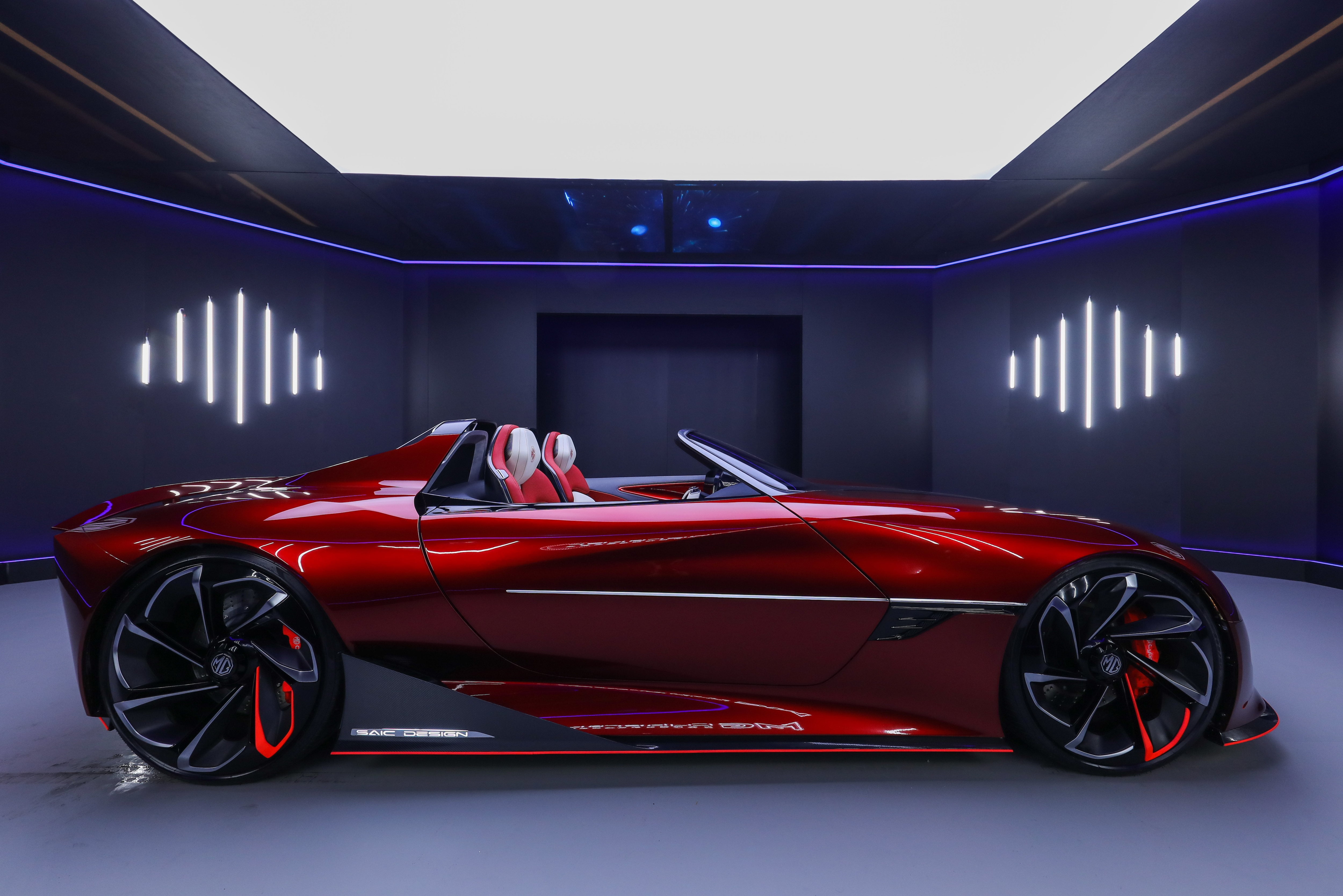 The MG Cyberster electric sportscar will make its official debut at the Shanghai Auto Show later this month.