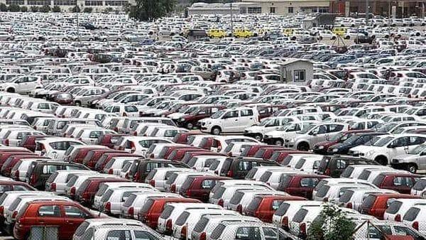 Cars in Maruti Suzuki plant in IMT Manesar in Gurgaon. HT Photo (files)