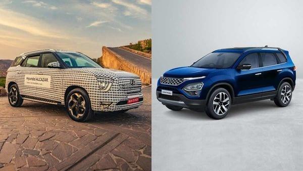 Once launched, Hyundai Alcazar (left) will take on Tata Safari.