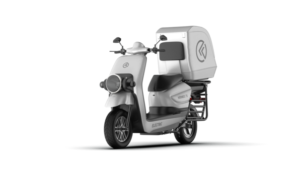 The Hermes 75 e-scooter packs a 60V40AH Li-ion battery which can be fast charged in four hours.