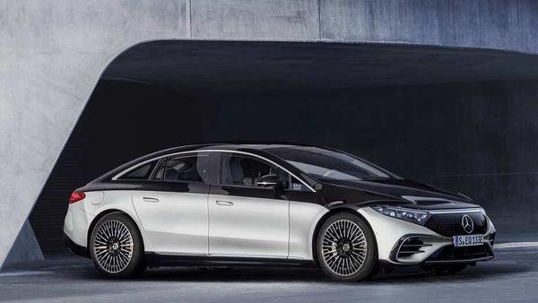 Mercedes held a digital event to showcase the EQS, its flagship electric sedan.