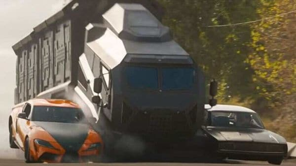 Screengrab from a trailer of Fast and Furious 9 released on Youtube by Universal Pictures UK.