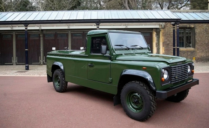 The TD5 130 Land Rover in military green, seen in the pictures, was designed for over 16 years and Prince Philip was an active participant in the whole process.