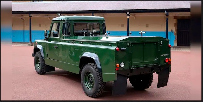 The Land Rover Defender, which sports a specific shade of green favoured by the military and Prince Philip, will take centre-stage as it will be followed on foot during the procession.