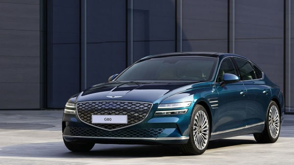Genesis G80 electric luxury sedan was officially unveiled during the Shanghai Auto Show.