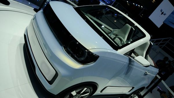 The mini concept car is based on the Hong Guang MINI EV.