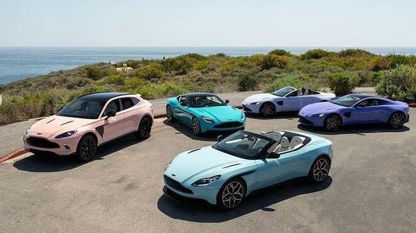 The Aston Martin models with their custom pastel colours are likely to find favour among those looking for exclusive additions to their garage.