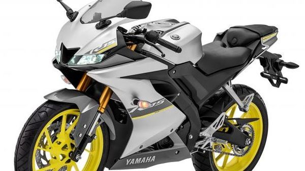 The R15 has received flashy fluorescent yellow wheels that sync in with the overall silver/black treatment on its outer skin.