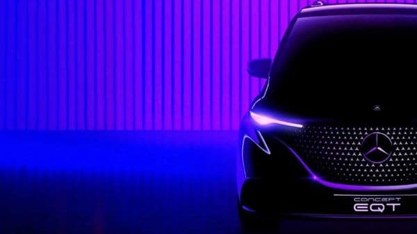 Mercedes has shared this teaser image of its EQT electric small van.