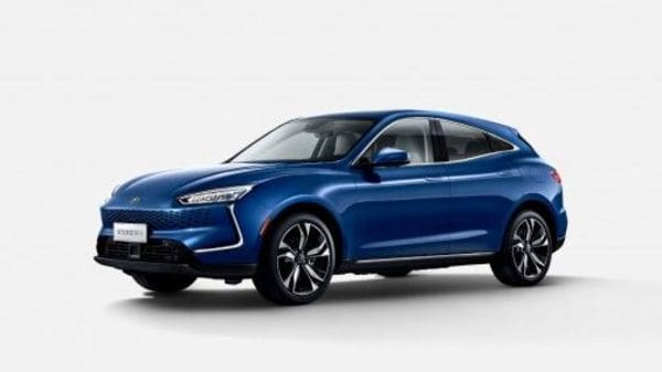 Huawei showcased its electric vehicle Seres SF5 at the Shanghai Auto Show.
