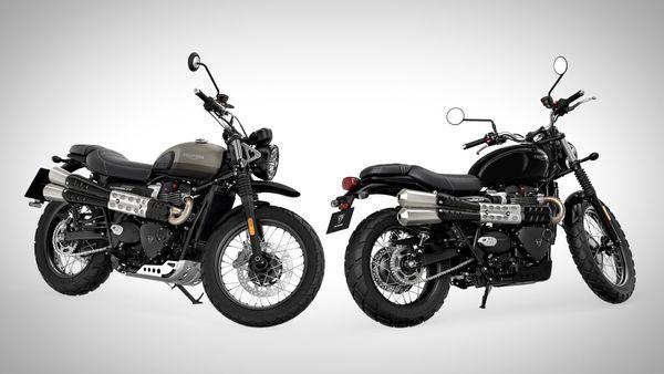 India-bound Triumph Street Scrambler and Scrambler Sandstorm bikes unveiled.