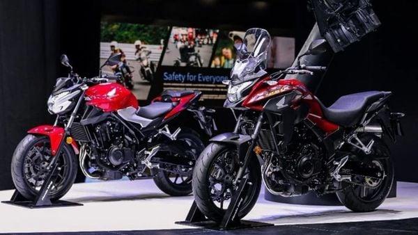 Both the new bikes in Honda's CB400 range feature the same engine platform.