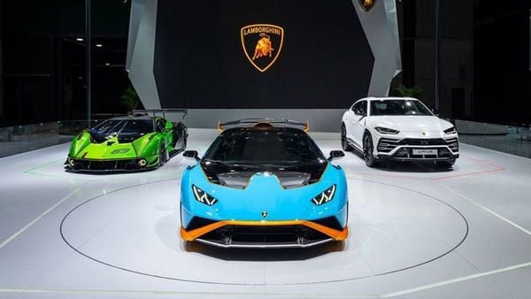 Automobili Lamborghini has unveiled these three cars, including the track-only hyper car Essenza SCV12, street-legal Huracan STO and Huracan Fluo Capsule.