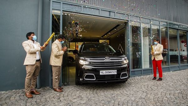 The new C5 Aircross SUV is assembled at the company's plant in Thiruvallur, near Chennai.