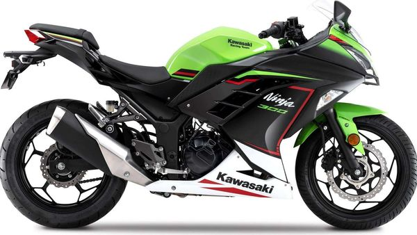 2021 Kawasaki Ninja 300 gets a new paint scheme.