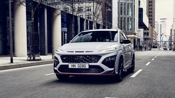Hyundai Kona N, the performance edition of the popular SUV, was unveiled on April 27.