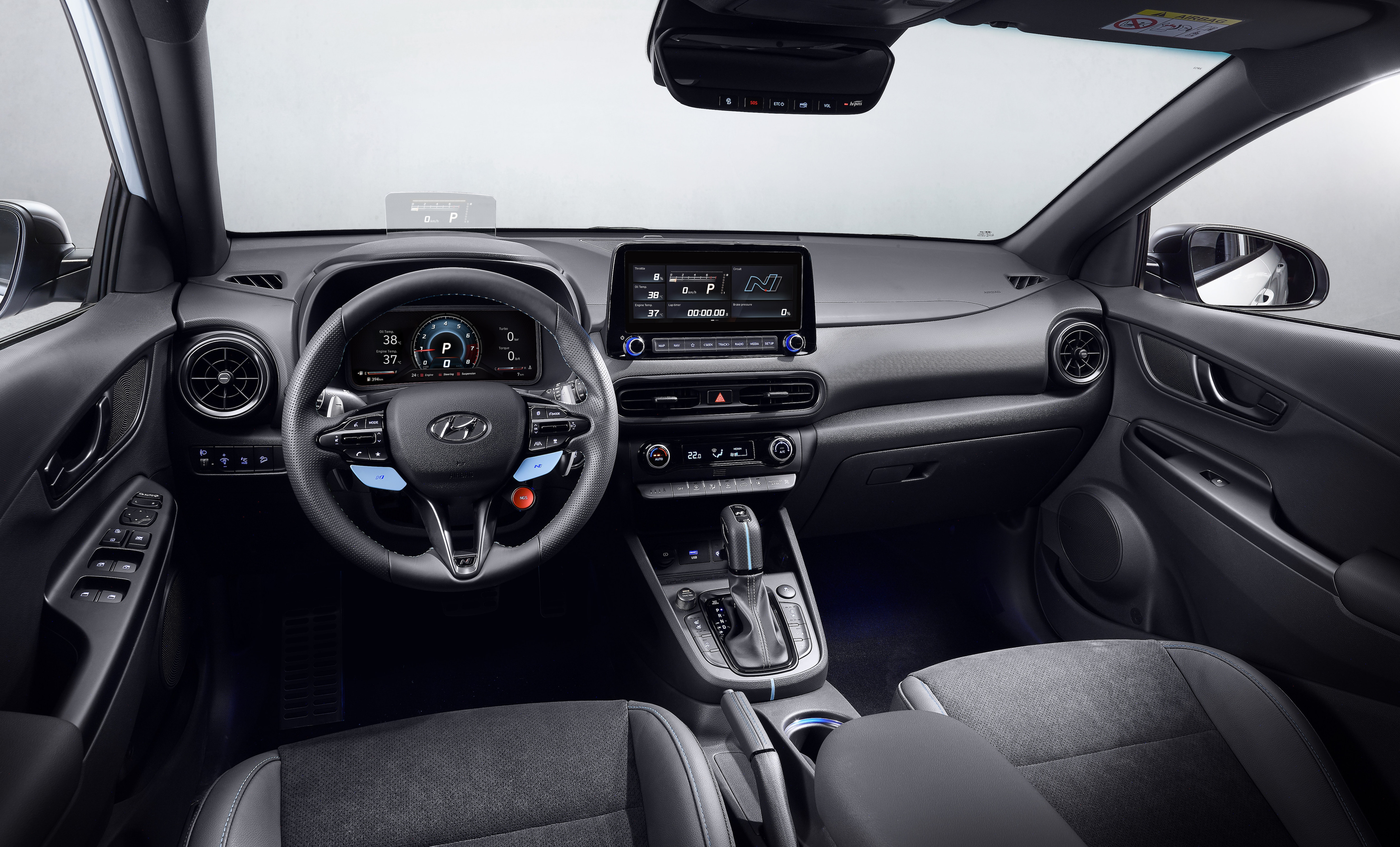 On the inside, the dashboard is dominated by two 10.25-inch displays for the instrument panel and the infotainment system that is compatible with Android Auto and Apple CarPlay.