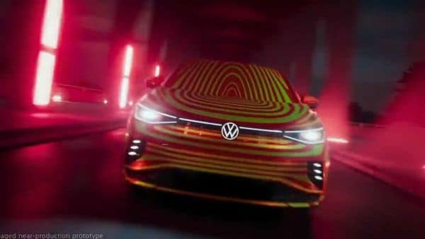 Volkswagen teases ID.5 electric coupe which is likely to be unveiled before the end of the year.