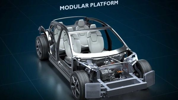 The EVX modular EV platform is capable of accommodating wheelbases between 2,900 mm to 3,100 mm.