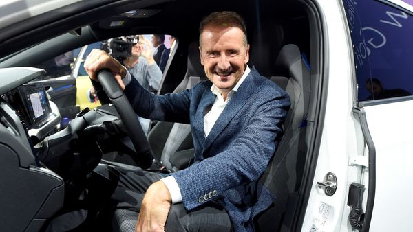 FILE PHOTO: Volkswagen CEO Herbert Diess poses in the Golf 8 car during its presentation at the Volkswagen plant in Wolfsburg, Germany October 24, 2019. (REUTERS)